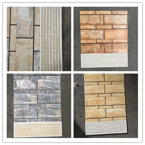 Outside Wall Tile Ceramic 150x500mm For Project Exterior Wall Decoration Material