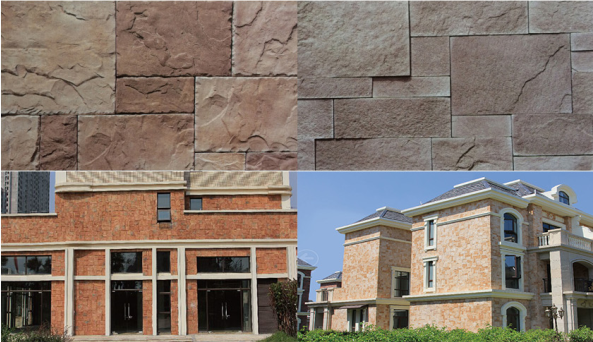 Villa Artificial Culture Stone Cement Castle Stone Faux Rock For Faux Slate Veneer