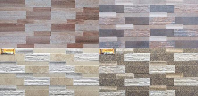 Multi Functional Stable Ceramic Wall Tile Firebrick Clear And Vivid Designs