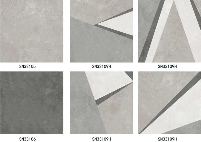 Cement Look Rustic Porcelain Tile  30 × 30 cm Trendy Style Firebrick Wearable