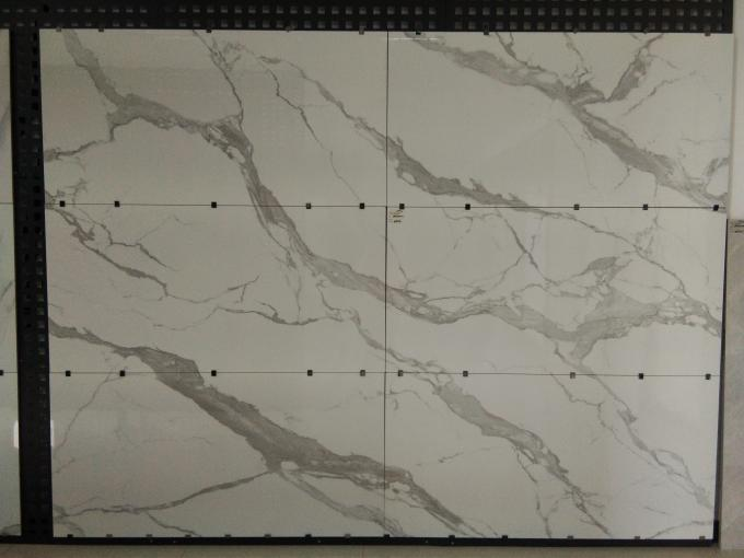 Polished Porcelain Marble Tile For Studing Room / Bedroom Easy To Clean