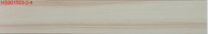 Light Beige Exterior Wood Effect Floor Tiles Good Abrasion Resistance