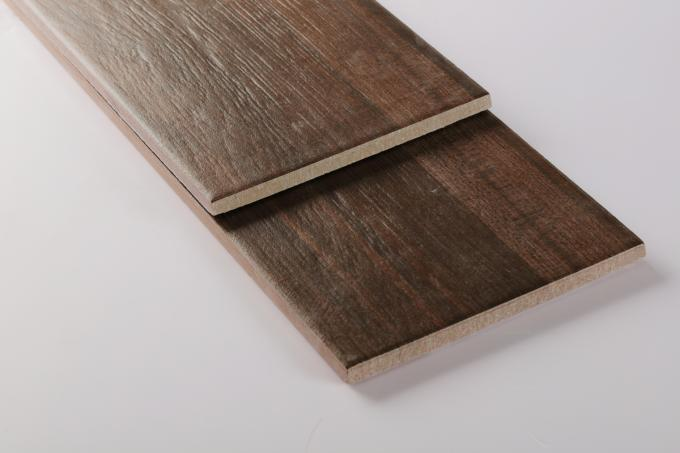 Building Material Wood Effect Floor Tiles Water Absorption 6~8% Moisture - Proof