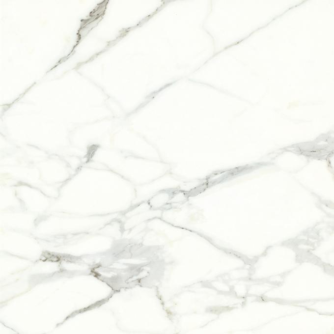 Modern Anti - Slip Shiny Ceramic Tile /  White Cararra Stone Tile