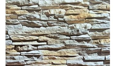 China Decorative Artificial Culture Stone Thick Reef Design Beige Slate Veneer Stone supplier