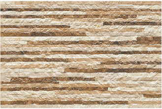 Glazed Ceramic Tile / Rustic Wall Tiles Stone Like Wall Decoration Ceramic Tile
