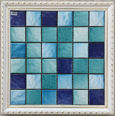 Pure Multi Color Ceramic Mosaic Tile Modern Design For Hotel Sports Center