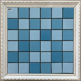 China Pure Multi Color Ceramic Mosaic Tile Modern Design For Hotel Sports Center supplier
