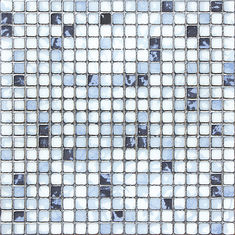 Kitchen Crystal Glass Mosaic Tiles 30 X 30 cm Metal Glazed / Interior Wall Tiles