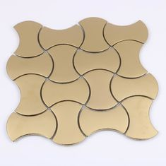 Acid - Resistant Leaf Marble Square Ceramic Mosaic Tile For Bathroom / Kitchen