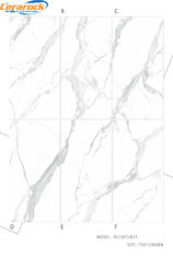 Polished Porcelain Marble Tile For Studing Room / Bedroom Easy To Clean supplier