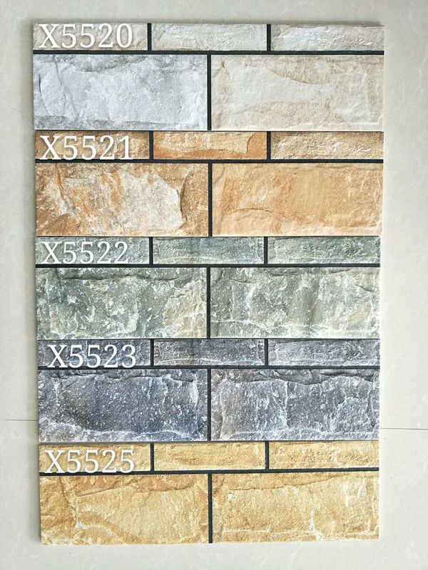 Outside Wall Tile Ceramic 150x500mm For Project Exterior Wall Decoration Material supplier