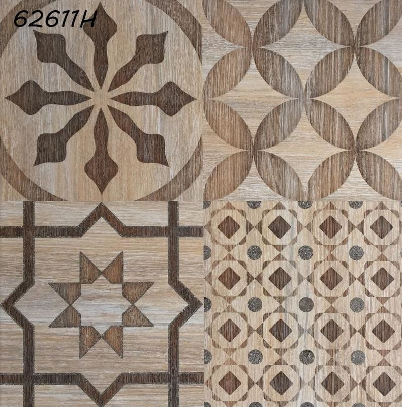 Electric Heating Ceramic Floor Tiles 24'' x 24'' Flower Pattern Glazed Rustic supplier