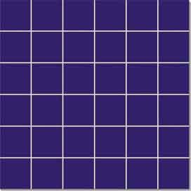 China Multi Function 48 × 48mm Porcelain Mosaic Tile For Project Purple And Black factory