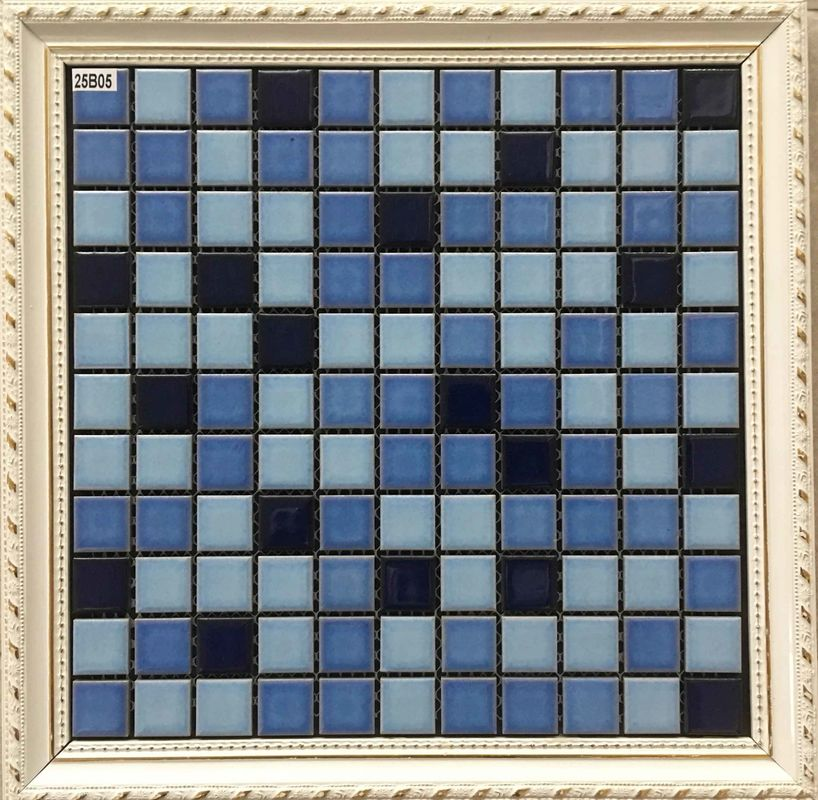 Classic Design Ceramic Mosaic Tile 25 X 25 Mm For Swimming Mosaic Pool