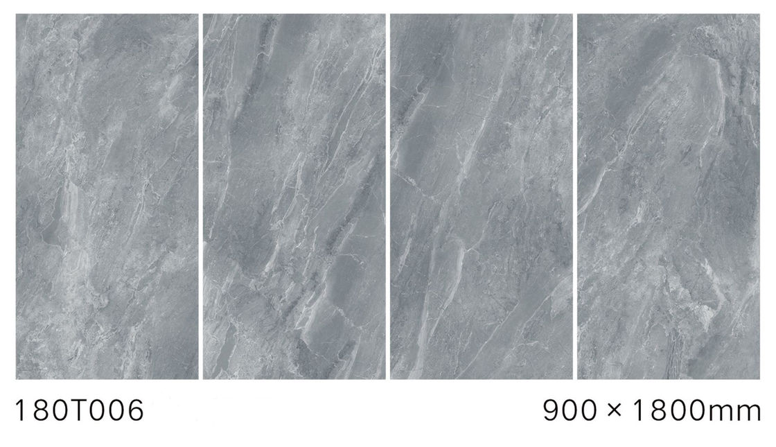 Gray Color Full Body Polished Marble Tiles Low Water Absorption 900*1800 mm Size