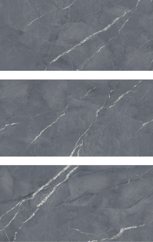 Full Body Grey Polished Marble Tiles 10mm Thickness Wear - Resistant For Living Room