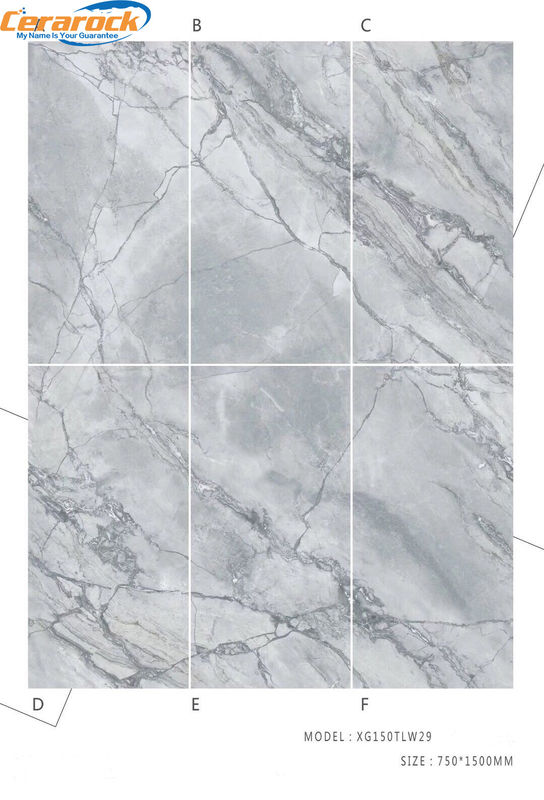 10 mm Thickness Anti - Slip Polished Porcelain Tile That Looks Like Marble 750*1500 mm Size