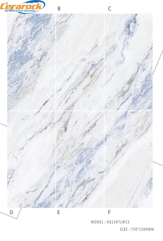 High Performance 75*150cm Polished Marble Tiles Mix Color For Hotel Decoration