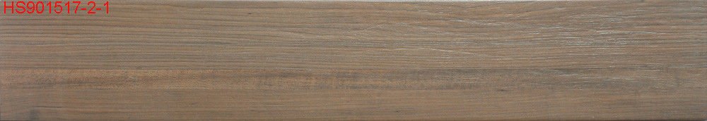 Antibacterial Wood Effect Floor Tiles Modern Rustic Style For Hotel Decoration