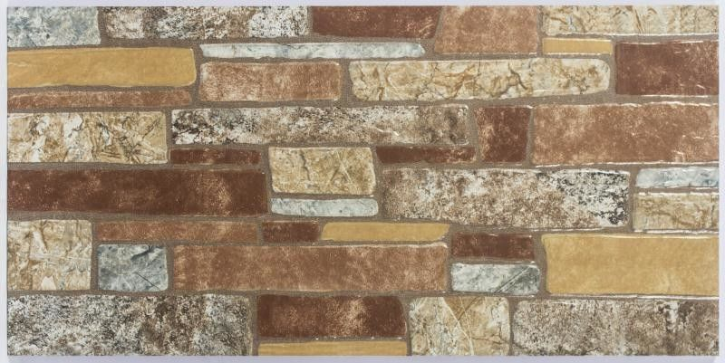 Mixed Color 300x600mm Rustic Wall Tile Fashionable Building Type