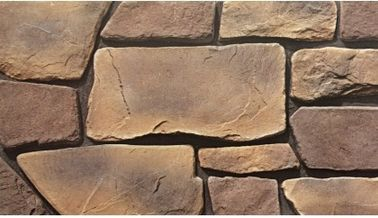 China Rustic Anti-Slip Grey Concrete Tiles Lightweight Faux Stone Veneer Cladding Outside Wall Widely Used  Waterproof Stone factory