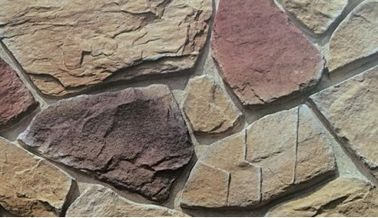 China Waterproof Artificial Stacked Stone Multicolor Cement Decorative Wall factory