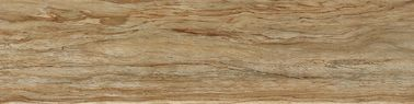 China Brown Color Natural Wood Grain Tile Blends With Decors 15 × 60 Cm Grade AAA factory
