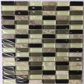 China Iridescent Crystal Ceramic Mosaic Tiles Washable Easy To Install factory
