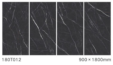China Anti - Slip Polished Marble Tiles For Villa Electric Heating Black Color factory
