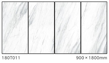 China Marble Look Non - Slip Porcelain Polished Floor Tiles For Villa White Color factory