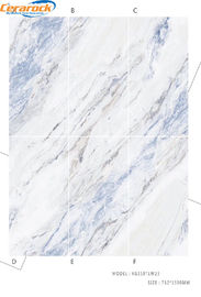 China High Performance 75*150cm Polished Marble Tiles Mix Color For Hotel Decoration factory