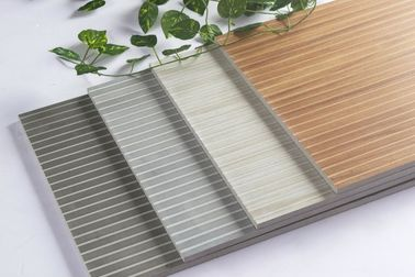 China Wooden Strip Porcelain Ceramic Wall Tile For Bar , Hotel Energy - Saving factory