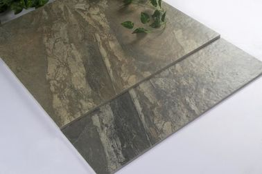 China Dark Stone Like Ceramic Glazed Floor Tile For Porject  Anti Bacterial factory