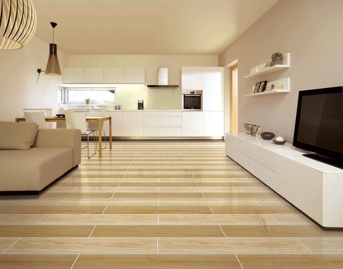 Rustic Wood Effect Wall Tiles Modern Beige Brown 150 × 800 mm Fashion