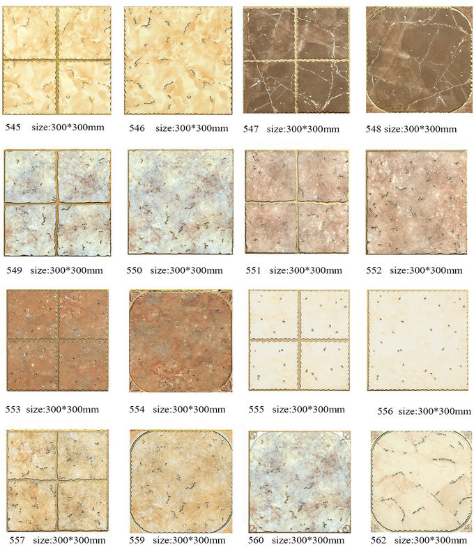 Wear - Resistant Gold Crystal Glass Tile 300 X 300 Mm / Shower Wall Tile